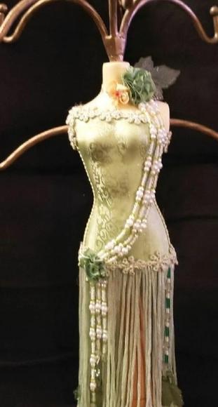 Fringe & Bead Lady Jewelry Tree